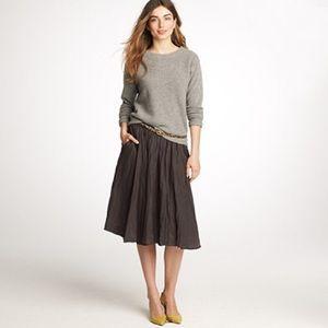 J. Crew Jardin Gray Dark Pewter Cotton Skirt